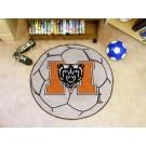 """27"""" Round Mercer (Atlanta) Bears Soccer Mat"""
