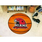 "29"" Round Miami (Ohio) RedHawks Basketball Mat"