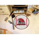 """29"""" Round Miami (Ohio) RedHawks Baseball Mat"""
