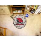 "29"" Round Miami (Ohio) RedHawks Soccer Mat"