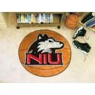 """27"""" Round Northern Illinois Huskies Basketball Mat"""