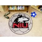 """27"""" Round Northern Illinois Huskies Soccer Mat"""