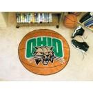 "27"" Round Ohio Bobcats Basketball Mat"