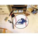 """27"""" Round Akron Zips Baseball Mat"""