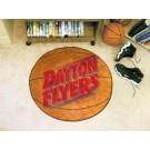 "27"" Round Dayton Flyers Basketball Mat"