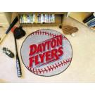 """27"""" Round Dayton Flyers Baseball Mat"""