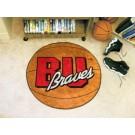 "27"" Round Bradley Braves Basketball Mat"