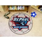 """27"""" Round DePaul Blue Demons Soccer Mat"""