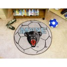 "27"" Round Maine Black Bears Soccer Mat"