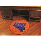 """27"""" Round Northern Iowa Panthers Basketball Mat"""