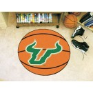 "27"" Round South Florida Bulls Basketball Mat"