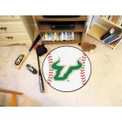 "27"" Round South Florida Bulls Baseball Mat"