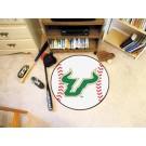 "27"" Round South Florida Bulls Baseball Mat"