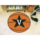"27"" Round Vanderbilt Commodores Basketball Mat"