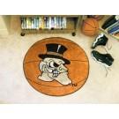 "27"" Round Wake Forest Demon Deacons Basketball Mat"