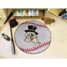 "27"" Round Wake Forest Demon Deacons Baseball Mat"