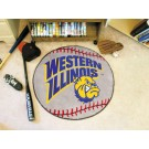 "27"" Round Western Illinois Leathernecks Baseball Mat"