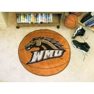 "27"" Round Western Michigan Broncos Basketball Mat"