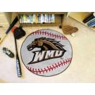 "27"" Round Western Michigan Broncos Baseball Mat"