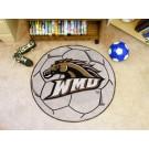 "27"" Round Western Michigan Broncos Soccer Mat"