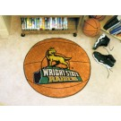 """27"""" Round Wright State Raiders Basketball Mat"""
