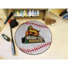 """27"""" Round Wright State Raiders Baseball Mat"""