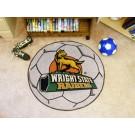 """27"""" Round Wright State Raiders Soccer Mat"""