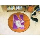 "Northwestern Wildcats 27"" Round Basketball Mat"