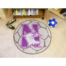"""Northwestern Wildcats 27"""" Round Soccer Mat"""