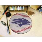 """27"""" Round Nevada Wolf Pack Baseball Mat"""