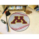 "27"" Round Minnesota Golden Gophers Baseball Mat"