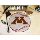 """27"""" Round Minnesota Golden Gophers Baseball Mat"""