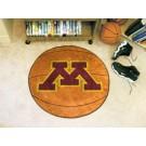 """27"""" Round Minnesota Golden Gophers Basketball Mat"""