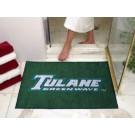 "34"" x 45"" Tulane Green Wave All Star Floor Mat"