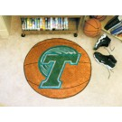 "27"" Round Tulane Green Wave Basketball Mat"