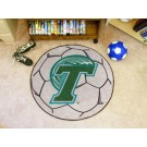"27"" Round Tulane Green Wave Soccer Mat"