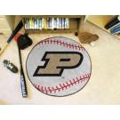 """27"""" Round Purdue Boilermakers Baseball Mat"""