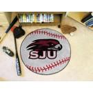 """27"""" Round St. Joseph's Hawks Baseball Mat"""
