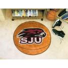 "27"" Round St. Joseph's Hawks Basketball Mat"