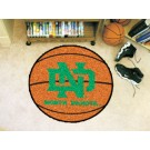 "North Dakota  Hawks 27"" Round Basketball Mat"