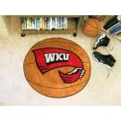 """27"""" Round Western Kentucky Hilltoppers Basketball Mat"""