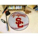 """27"""" Round USC Trojans Baseball Mat"""