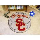 """27"""" Round USC Trojans Soccer Mat"""