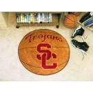 "27"" Round USC Trojans Basketball Mat"