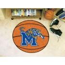"27"" Round Memphis Tigers Basketball Mat"