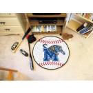 "27"" Round Memphis Tigers Baseball Mat"