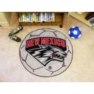 "27"" Round New Mexico Lobos Soccer Mat"