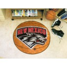 "27"" Round New Mexico Lobos Basketball Mat"