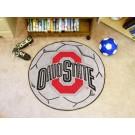 """27"""" Round Ohio State Buckeyes Soccer Mat"""