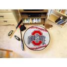 """27"""" Round Ohio State Buckeyes Baseball Mat"""
